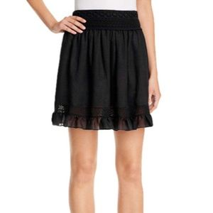 NEW McQ by Alexander McQueen Lace Trim Mini Skirt
